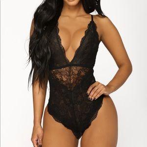 Deep Plunge lace lingerie/bodysuit